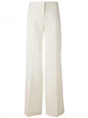 Широкие брюки Tonello. Цвет: белый
