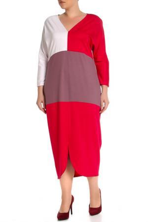 Платье EVA Collection. Цвет: розово-молочный