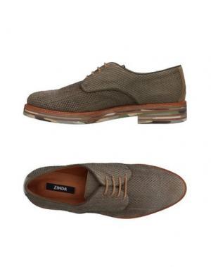 Обувь на шнурках ZINDA. Цвет: зеленый-милитари