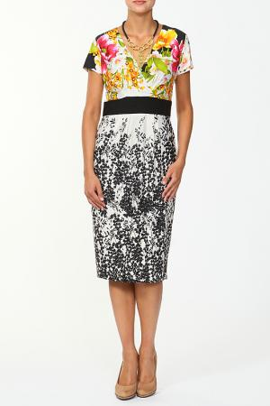 Платье с аксессуаром Verda. Цвет: черный, белый, фуксия