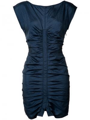 Платье со сборками Rachel Comey. Цвет: синий