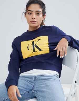Calvin Klein Свитшот Jeans. Цвет: желтый