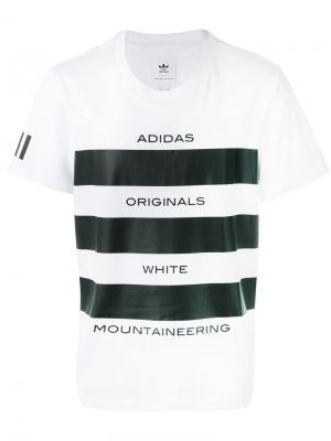 Футболка с принтом логотипа Adidas By White Mountaineering. Цвет: белый