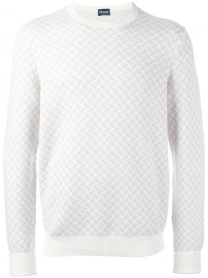 Пуловер с круглым вырезом Drumohr. Цвет: телесный