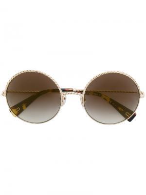 Солнцезащитные очки с плетением Marc Jacobs Eyewear. Цвет: металлический