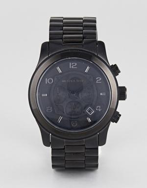 Michael Kors Черные часы-хронограф MK8157. Цвет: черный