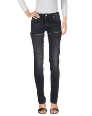 Джинсовые брюки HBA HOOD BY AIR. Цвет: стальной серый