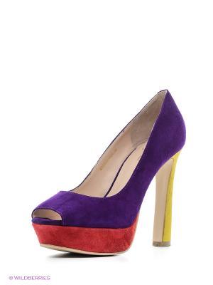 Туфли Moda Donna. Цвет: фиолетовый