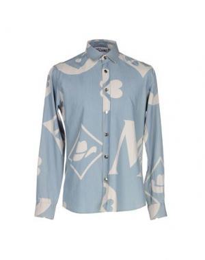 Джинсовая рубашка MOSCHINO COUTURE. Цвет: синий