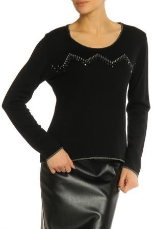 Блуза Elisa Fanti. Цвет: черный