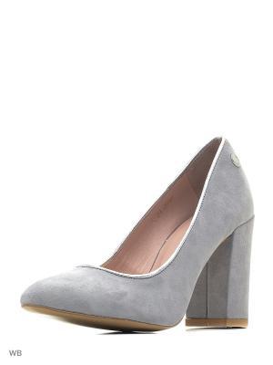 Туфли Gretchen. Цвет: серый, серебристый