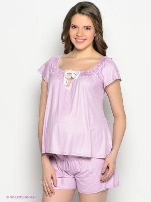 Пижама UNIOSTAR. Цвет: сиреневый