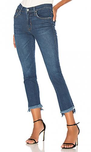 Прямые джинсы с асимметричным низом James Jeans. Цвет: none