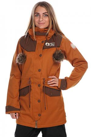 Куртка женская  Amber Brown Picture Organic. Цвет: коричневый