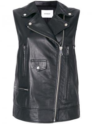 Biker vest Dondup. Цвет: чёрный
