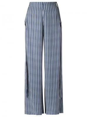 High-waisted trousers Giuliana Romanno. Цвет: синий