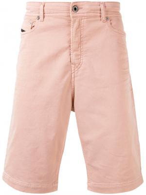 Классические шорты-чинос Diesel Black Gold. Цвет: розовый и фиолетовый