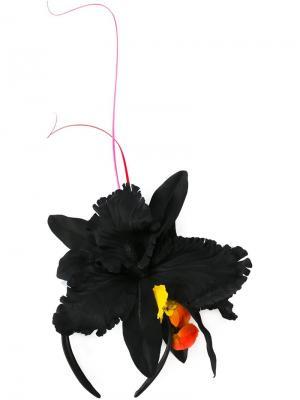 Ободок для волос с цветочным украшением Piers Atkinson. Цвет: чёрный