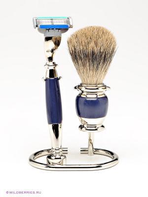 Бритвенный набор S.QUIRE. Цвет: серебристый (осн.), синий
