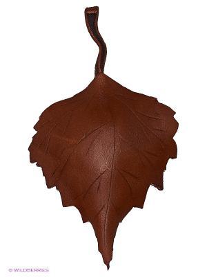 Брошь Лист берёзовый Мастер ГРиСС. Цвет: коричневый, светло-коричневый
