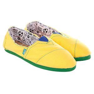 Эспадрильи  Mundial Brasil Paez. Цвет: зеленый,желтый