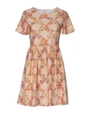Короткое платье ANONYME DESIGNERS. Цвет: абрикосовый