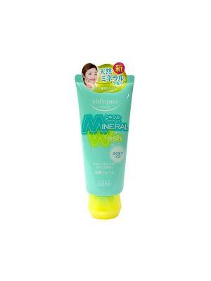 Пенка-скраб для умывания с цветочным ароматом, Kose Softymo Mineral Wash 130г. Цвет: зеленый