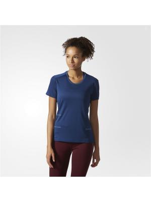 Футболка спортивная жен. SN 37C TEE W Adidas. Цвет: синий