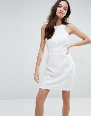 Adelyn Rae Облегающее платье. Цвет: белый