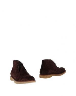 Полусапоги и высокие ботинки BORGIOLI. Цвет: какао