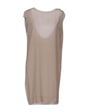 Короткое платье .TESSA. Цвет: бежевый