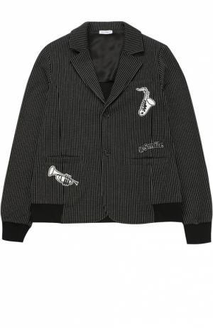 Пиджак с эластичными вставками и нашивками Dolce & Gabbana. Цвет: черно-белый