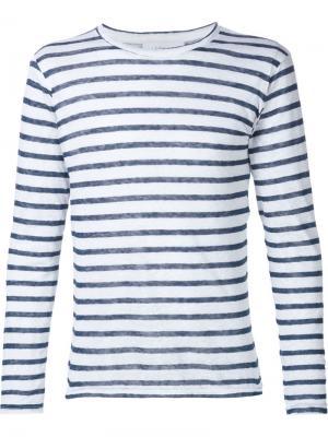 Полосатая футболка Icosae. Цвет: белый