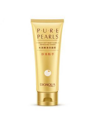 Пенка для умывания с жемчужной пудрой Pure Pearls Bioaqua. Цвет: белый