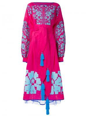Платье Porcelain Bouquet Yuliya Magdych. Цвет: розовый и фиолетовый