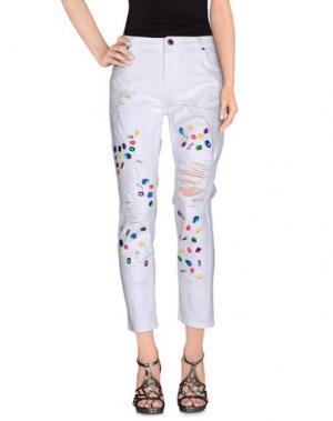 Джинсовые брюки ODI ET AMO. Цвет: белый