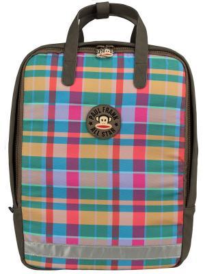 Универсальный рюкзак-сумка. Paul Frank. Цвет: бежевый, розовый, коричневый, голубой