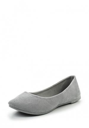 Балетки Sweet Shoes. Цвет: серый