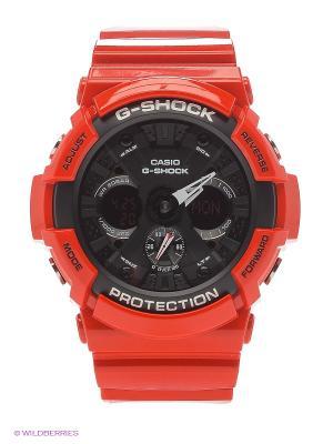 Часы G-Shock GA-201RD-4A CASIO. Цвет: красный