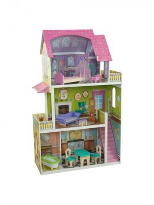 Кукольный домик Флоренс KidKraft. Цвет: светло-зеленый, розовый