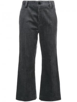 Вельветовые укороченные брюки Marc Jacobs. Цвет: серый