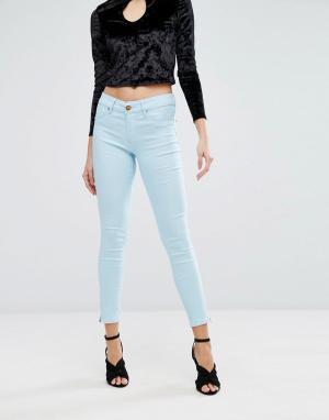 Forever Unique Зауженные джинсы. Цвет: синий