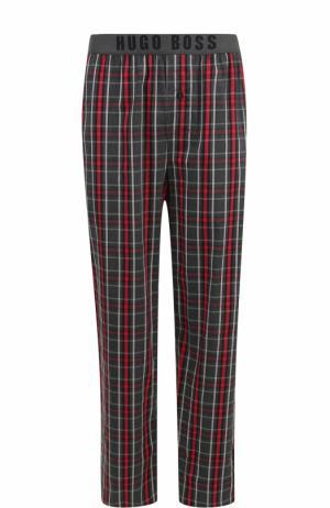 Хлопковые домашние брюки BOSS. Цвет: красный