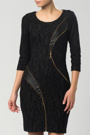 Платье Sassofono. Цвет: черный