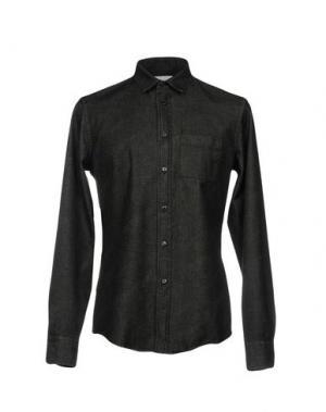 Джинсовая рубашка DONDUP. Цвет: черный