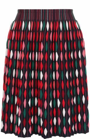 Плиссированная мини-юбка с принтом Alaia. Цвет: красный