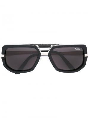 Солнцезащитные очки в геометрической оправе Cazal. Цвет: чёрный