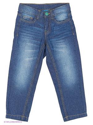 Брюки (джинсы) Button Blue. Цвет: синий