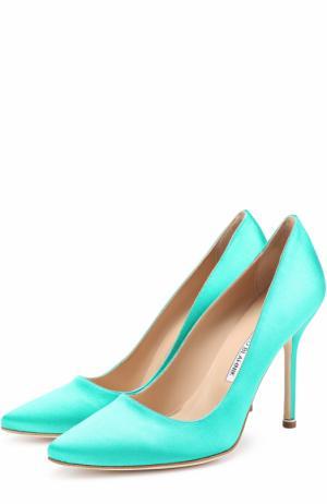Атласные туфли  X Manolo Blahnik Vetements. Цвет: зеленый