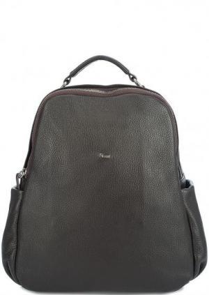 Кожаный рюкзак с двумя отделами Bruno Rossi. Цвет: коричневый